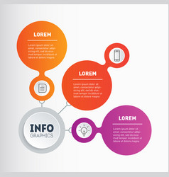 Business presentation concept with 3 options vector