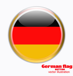 Button with flag of germany vector