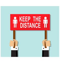 Call for social distance due to virus and risk vector