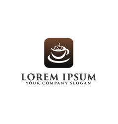 Coffe logo design concept template vector