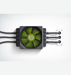computer cooler design concept vector image