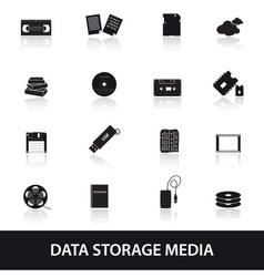 Data storage media icons eps10 vector