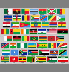 Different countries flags set vector