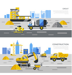digital yellow construction vector image