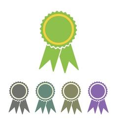 Diploma seal web icon vector