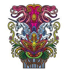 Doodle unicorns vector