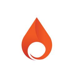 drop flame fire element emblem symbol vector image
