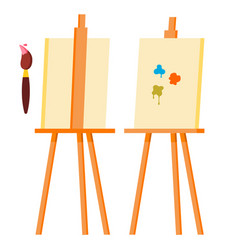 easel painting art icon symbol brush vector image