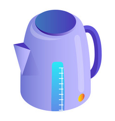 Electric kettle with measurement kitchen appliance vector