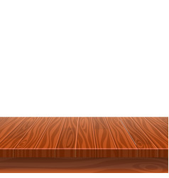 empty wooden table for product placement or vector image