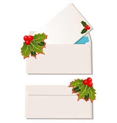 envelopes with christmas design elements vector image
