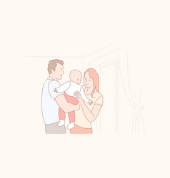 Family life parenthood bacare concept vector