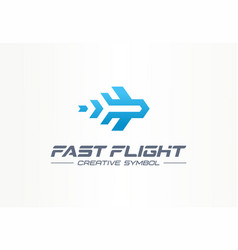 fast flight creative symbol travel concept high vector image