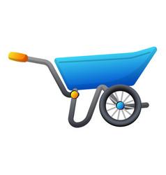 Garden wheelbarrow icon cartoon style vector