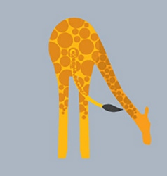 Giraffe Bottom vector