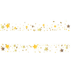 golden glitter confetti of stars vector image