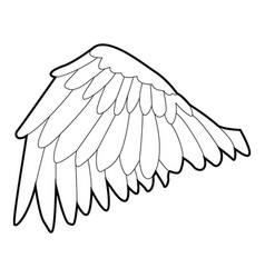 goose wing icon outline style vector image