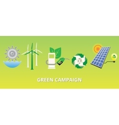Green campaign concept with new energy vector