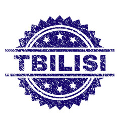 Grunge textured tbilisi stamp seal vector