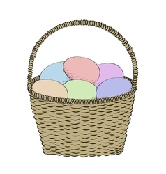 Hand-drawn basket vector