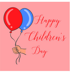 Happy childrens day design style vector
