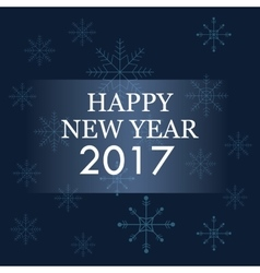 happy new year 2017 greeting card blue background vector image