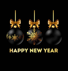 happy new year 2018 postcard with stylish vector image