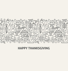 happy thanksgiving banner concept vector image