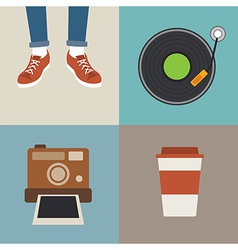 Hipster element flat design vector