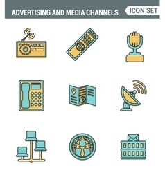 Icons line set premium quality of advertising vector image
