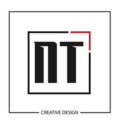 initial letter nt logo template design vector image