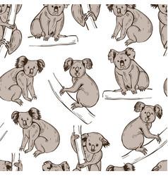 Koala pattern vector