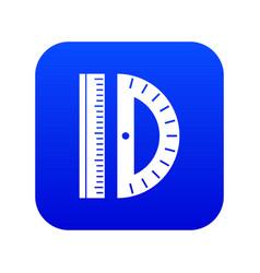 Line icon digital blue vector