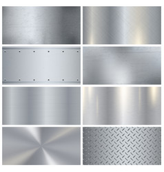 metal texture realistic 3d samples collection vector image