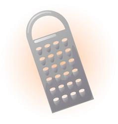 metallic grater vector image