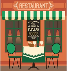 Modern flat design of restaurant vector