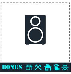 Music column icon flat vector