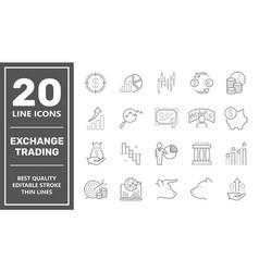 online trading flat concept modern vector image