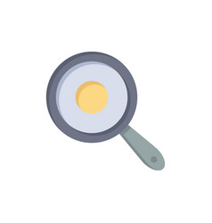 pan frying kitchen griddle flat color icon icon vector image