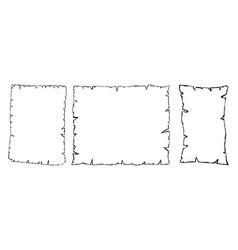 Parchment outline collection set old paper vector