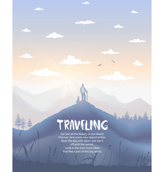 poster travel vector image