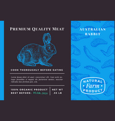 premium quality meat abstract rabbit vector image