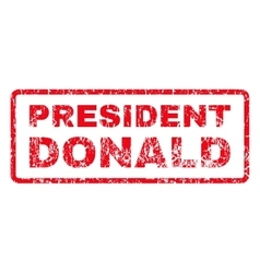 President Donald Rubber Stamp vector