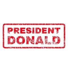 President donald rubber stamp vector