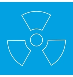 Radiation thin line icon vector