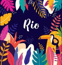 rio vector image