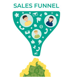 sales funnel flat vector image