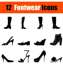 Set of womans footwear icons vector image