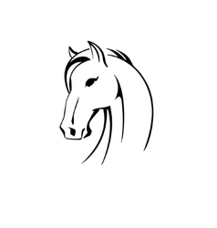 silhouette of a horse head vector image