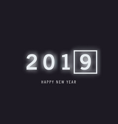 stylish black banner with numbers and 2018 in a vector image